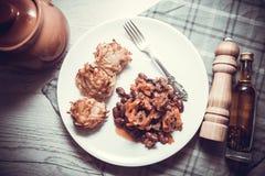 骗局carne和土豆薄烤饼 库存照片