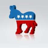 骡子符号美国表决市场活动 免版税图库摄影