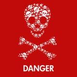 头骨危险标志 皇族释放例证