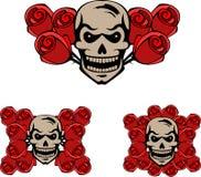 头骨和玫瑰 库存图片