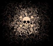 头骨和骨头堆  库存图片