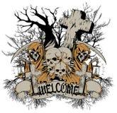 欢迎到公墓 免版税库存图片