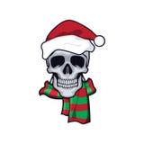 头骨和christmass 免版税库存照片