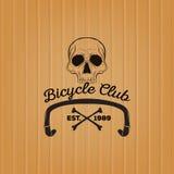头骨商标,自行车俱乐部商标 向量例证