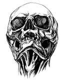 头骨图画线工作传染媒介 皇族释放例证