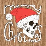 头骨圣诞老人 库存图片