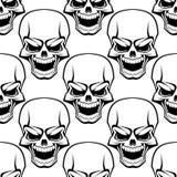 头骨无缝的背景样式 库存图片