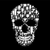 头骨标志传染媒介例证 皇族释放例证