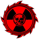 头骨标志辐射 皇族释放例证