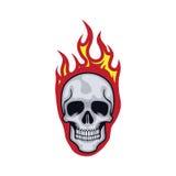 头骨火焰 向量例证
