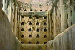 骨灰瓮安置所、拜特Guvrin和Maresha,古老废墟,考古学站点在以色列 库存图片