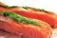 骨肉原始的三文鱼 免版税库存照片