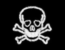 头骨骨头的标志从云彩的 库存图片