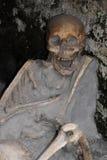 骨骼在小船棚子,赫库兰尼姆考古学站点,褶皱藻属,意大利 免版税库存照片