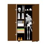 骨骼在碗柜 免版税库存照片