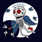 骨骼天使雍容 库存图片
