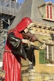 骨骼弹小提琴在慕尼黑啤酒节,斯图加特 免版税库存图片