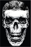 头骨死亡印刷品人T恤杉图表传染媒介设计 图库摄影