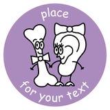 骨头和耳朵标志 库存图片