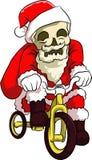 骨头头圣诞老人循环 免版税库存照片