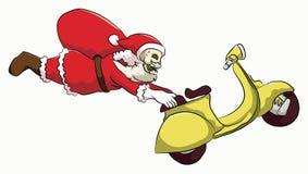 骨头头圣诞老人自由式滑行车 免版税图库摄影