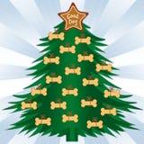 骨头圣诞节狗结构树 库存照片