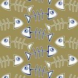 骨头鱼模式 免版税库存图片