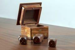 骰子盒 免版税图库摄影