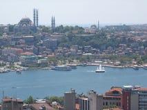 高一个看的伊斯坦布尔全景 火鸡 免版税库存照片