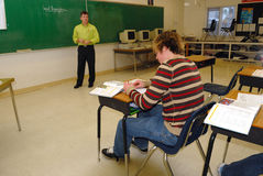 高中教师 免版税库存图片