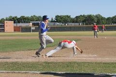 高中棒球 库存图片