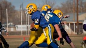 高中橄榄球 免版税图库摄影