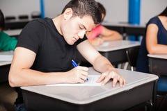 高中的入场测试 库存图片