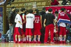高中篮球比赛, HBL 免版税图库摄影