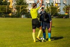 高中英格兰足球联赛比赛 库存图片