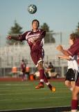 高中足球运动员 免版税图库摄影