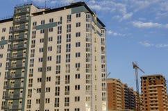 高五颜六色的大厦 库存照片