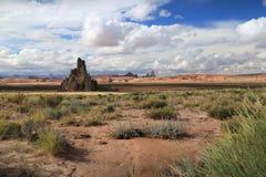 高亚利桑那的沙漠 免版税图库摄影
