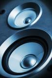 高保真度的音频立体音响系统声音报告人 图库摄影