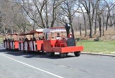 高公园的无轨道的火车 免版税库存照片