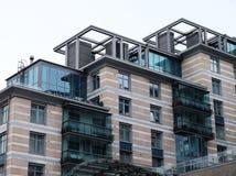 高公寓在俄罗斯 住宅建筑学 免版税库存图片