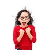 高兴的女孩 免版税图库摄影