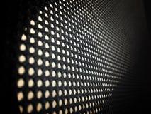 高分辨率净概念穿孔了样式纹理滤网背景 图库摄影