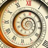 高分辨率古色古香的老螺旋计时抽象分数维螺旋 手表时钟异常的纹理分数维样式背景 向量例证