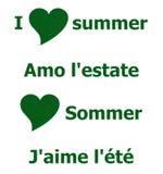 我爱夏天绿草 图库摄影