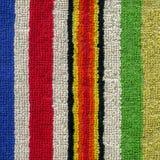 毛巾布料纹理-五颜六色的条纹 免版税库存图片