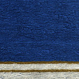 毛巾布料纹理-与条纹的蓝色 免版税图库摄影
