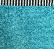 棉织物纹理-与黑&白色条纹的水色 免版税库存图片
