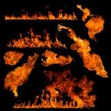高分辨率火收藏 库存图片
