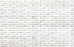 高分辨率白色难看的东西砖墙背景 免版税库存照片